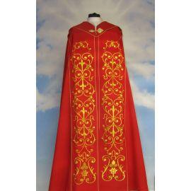 Kapa haftowana czerwona - ornament (4)