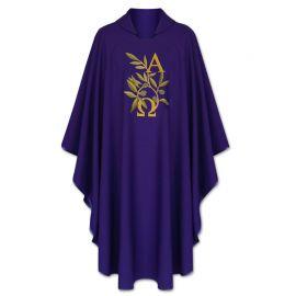 Ornat Alfa Omega+kłosy (kolory liturgiczne)