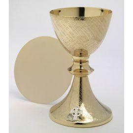 Kielich + patena, złocone - 20 cm