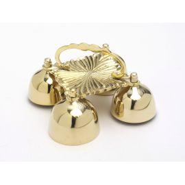 Dzwonki ołtarzowe mosiężne 4 tonowe - 19x19 cm