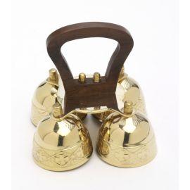 Dzwonki ołtarzowe drewnianą rączką - 3 i 4 tonowe