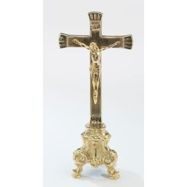 Krzyż ołtarzowy + 2 świeczniki