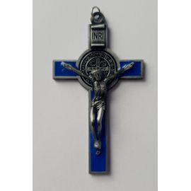 Krzyż św. Benedykta - niebieski