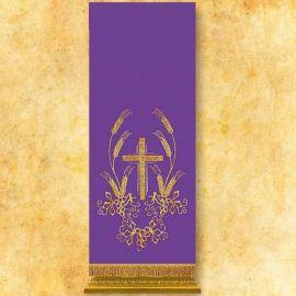 Lektorium haftowane - fiolet, krzyż