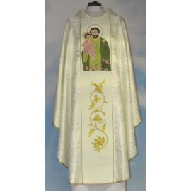 Ornat z wizerunkiem św. Józefa (rozeta)