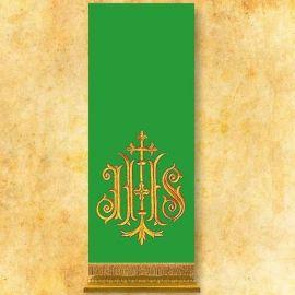 Lektorium haftowane zielone IHS