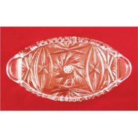 Taca szklana /kryształ - 24x12,5cm.