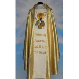 Ornat haftowany - Święty Ambroży