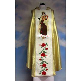 Ornat haftowany - Święta Teresa