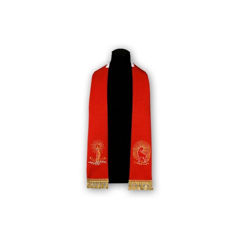 Stuła czerwona Baranek - haftowana