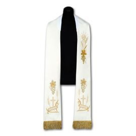 Stuła kapłańska haftowana IHS (95)