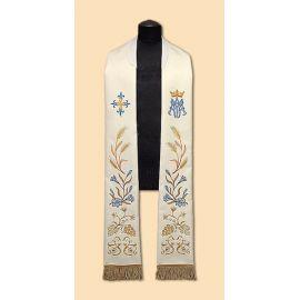 Stuła haftowana symbol Maryjny (33)