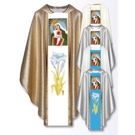 Ornat z haftowanym wizerunkiem - Matka Boża Kozielska