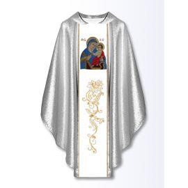 Ornat z haftowanym wizerunkiem - Matka Boża Uzdrowienie Chorych