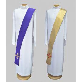 Stuła dla diakona - złoto/fioletowa