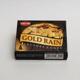 Kadzidło stożkowe - Gold Rain (10 stożków)