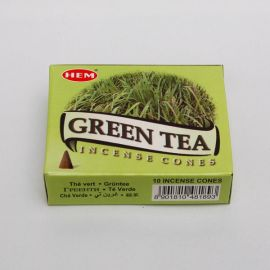Kadzidło stożkowe - Zielona Herbata (10 stożków)