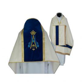 Welon liturgiczny Maryjny haftowany (11)