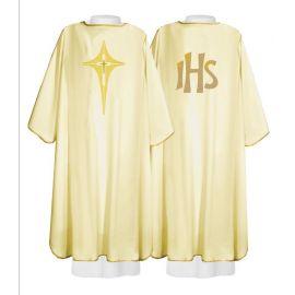 Dalmatyka haftowana ecru, IHS, krzyż (15)