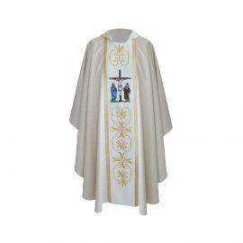 Ornat haftowany - Ukrzyżowanie Pana Jezusa