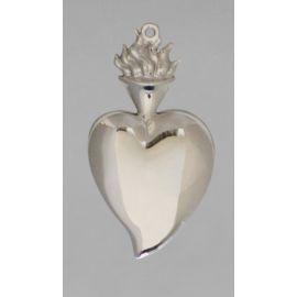 Wotum srebrne serce - wys. 12 cm.