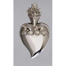 Wotum srebrne serce - wys. 13 cm.