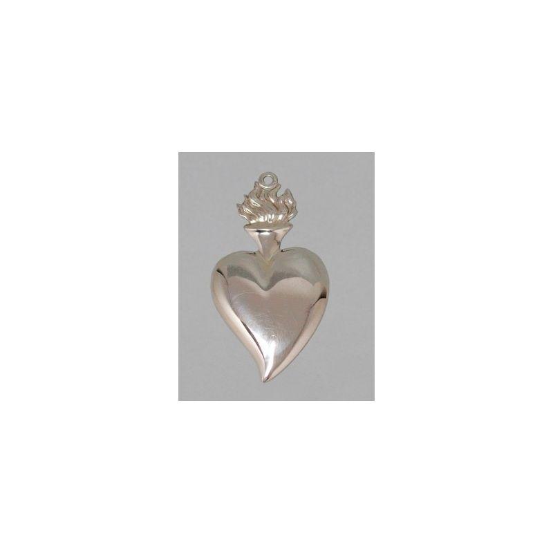 Wotum srebrne serce - wys. 7 cm.