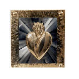 Tabernakulum mosiężne Serce (36)