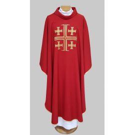 Ornat haftowany Krzyż Jerozolimski - czerwony (22)