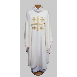 Ornat haftowany Krzyż Jerozolimski - ecru (22)
