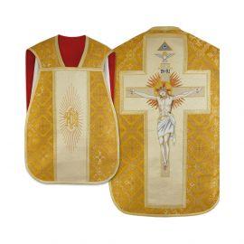 Ornat rzymski haftowany - Chrystus na krzyżu (20)