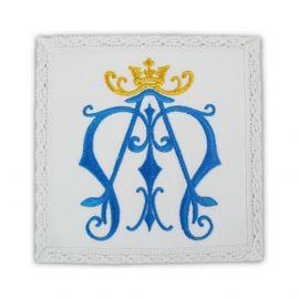 Palka haftowana biała bawełniana -  Maryjna