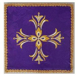 Palka haftowana fioletowa - ozdobny haft