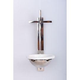Kropielnica mosiężna, niklowana krzyż - 31 cm