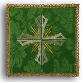 Palka haftowana zielona - Krzyż + promienie (2)