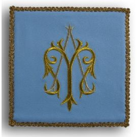 Palka haftowana niebieska - Maryjna