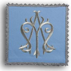 Palka haftowana niebieska - symbol Maryjny (2)