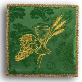 Palka haftowana zielona - kielich+ winogrona