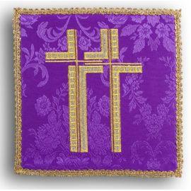 Palka haftowana fioletowa - Krzyż