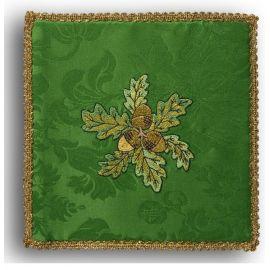 Palka haftowana zielona - żołędzie