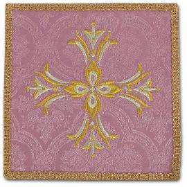 Palka haftowana różowa - Krzyż