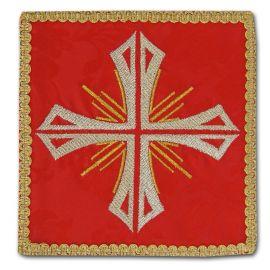 Palka haftowana czerwona - Krzyż + promienie (2)