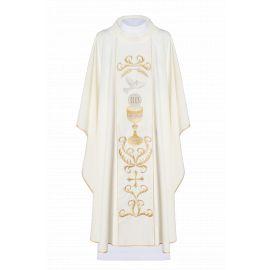 Ornat haftowany - kolory liturgiczne - IHS, Kielich, Duch Święty