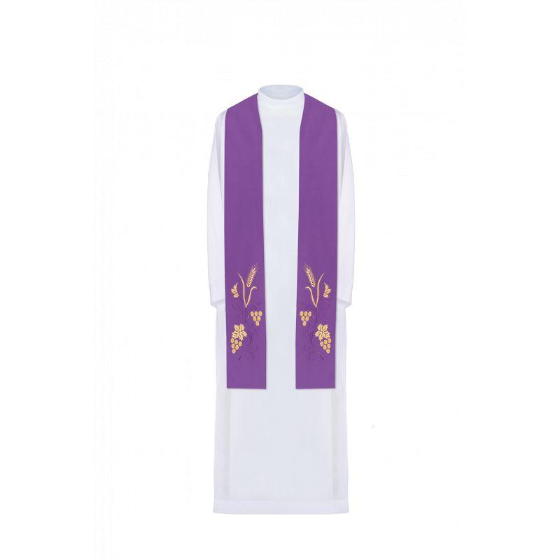 Stuła haftowana - kolory liturgiczne (3)