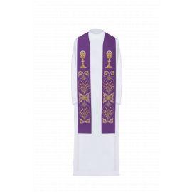 Stuła haftowana - kolory liturgiczne (42)