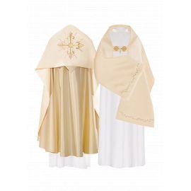 Welon liturgiczny aksamit - złoty Krzyż (33)