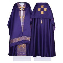 Welon liturgiczny satynowy - Krzyż (36)