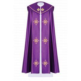 Kapa liturgiczna haftowana IHS - fioletowa (37)