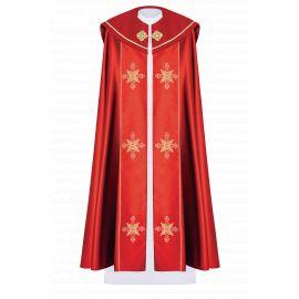 Kapa liturgiczna haftowana IHS - czerwona (38)