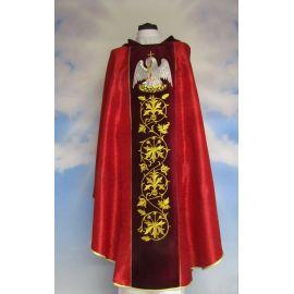 Ornat haftowany czerwony, adamaszek - ornament (2)